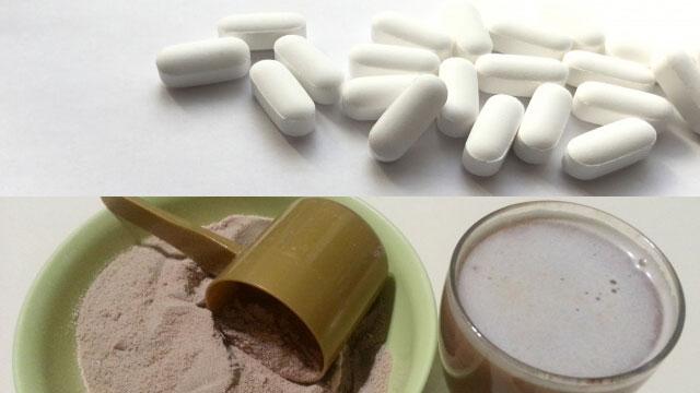 錠剤と粉状