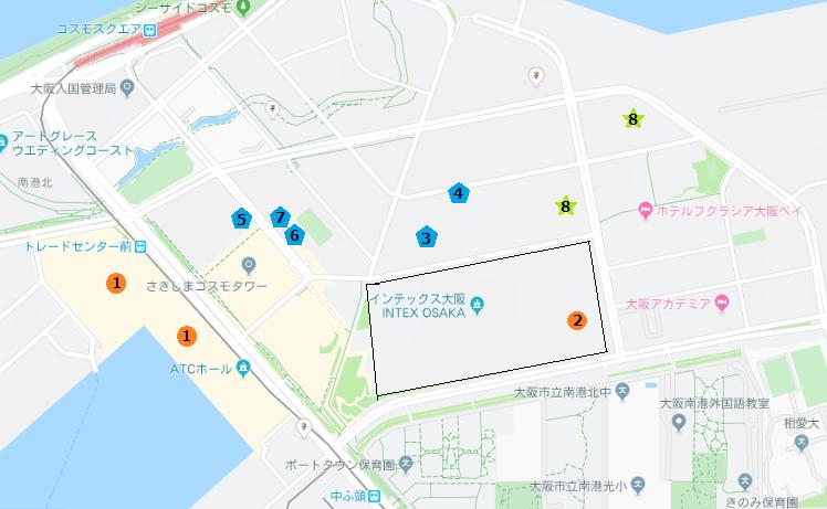 スポルテック大阪周辺駐車場!