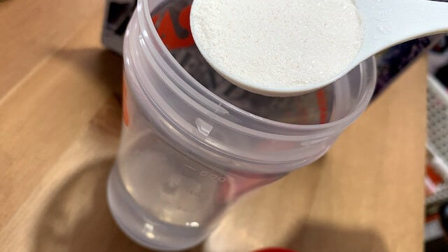 モンハンプレワークを水で飲む